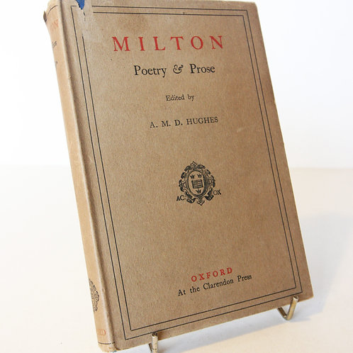 Milton Poetry and Prose 1930