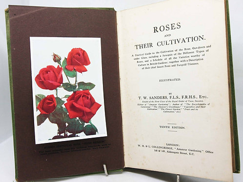 Rose Cultivation Book 1915 antique gardening illustrated book roses vintage hard