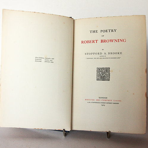 Poems of Robert Browning 1903