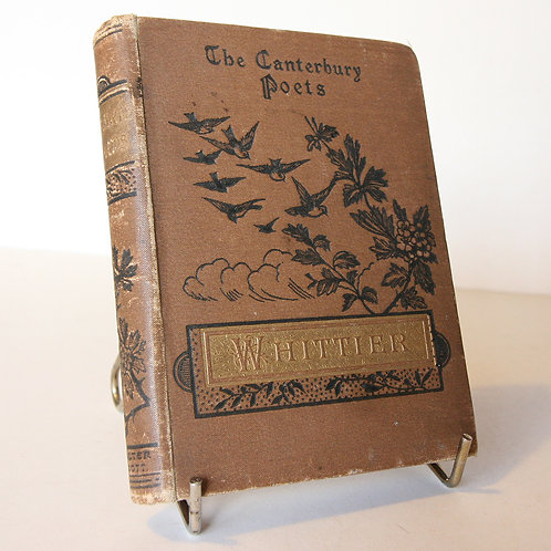 Poetical works of Whittier 1887 Antique Poetry Book
