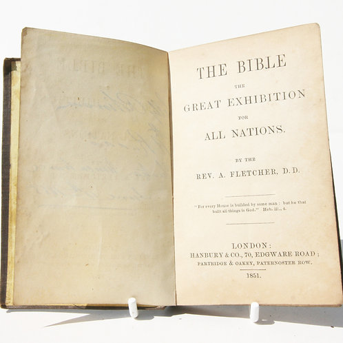 Antique Crystal Palace The Bible