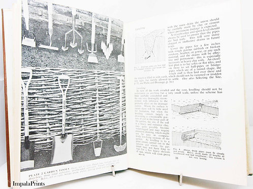 All About Gardening 1961 Vintage Books old book Famous garden design and flower