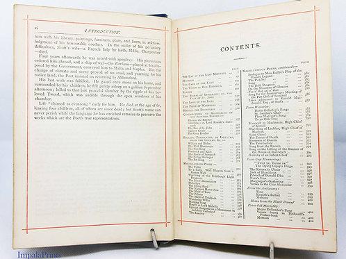 Walter Scott Poetical Works Antique 1800s Hardback Scotland Romance Antique vint