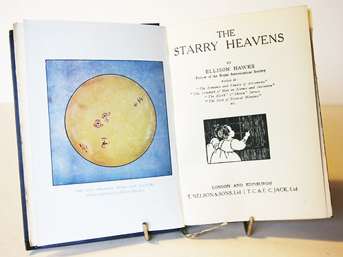 Starry Heavens Antique are old Science book