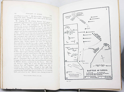 Ironclads in Action 1896 Illustrated Naval History Adventures Travel Antique bo