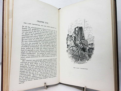 Sketches of Boz Antique Charles Dickens Vintage Red Illustrated Hardback old boo