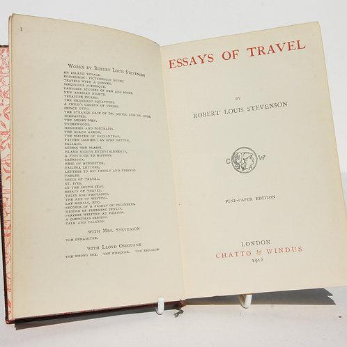 Antique Essays Of Travel RL Stevenson