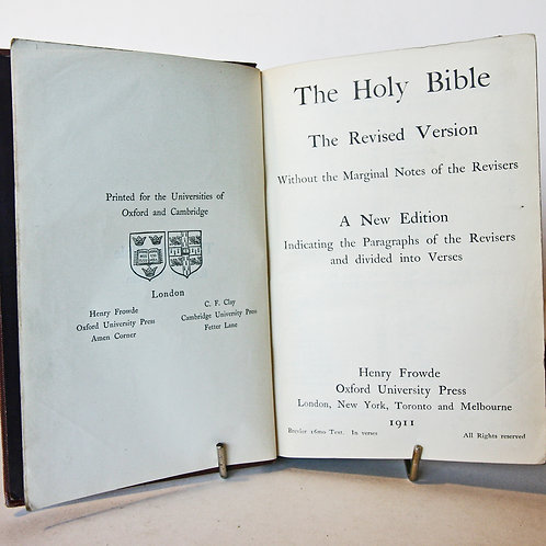 Holy Bible Antique 1911 Antique Christian