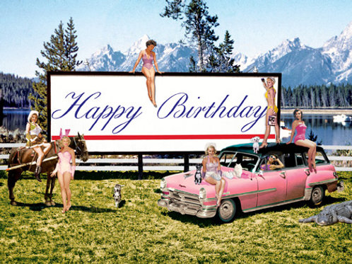 Bill Board Happy Birthday Card