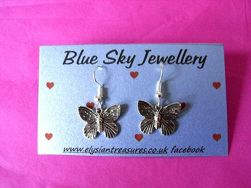 Blue Sky Butterfly Earrings