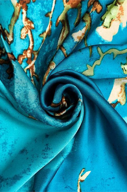 Almond Blossom Silk Scarf   100% Silk