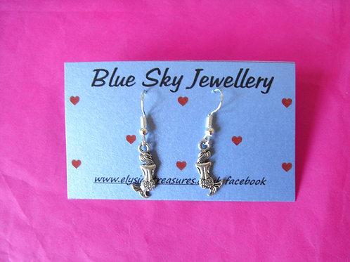 Blue Sky Mermaid Earrings