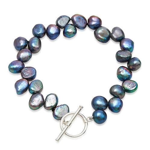 Side Drilled Black Pearl Bracelet