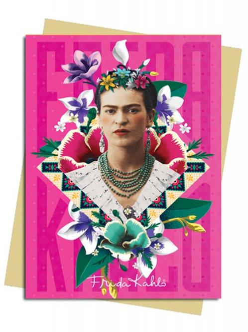 Frida Kahlo Pink Greeting Card