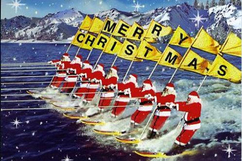 Santa Christmas Card Pack Of 5