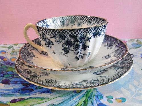 Victorian Blue & White Trio