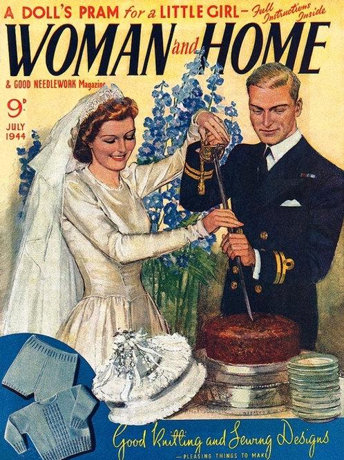 1944 Vintage Image Wedding Card