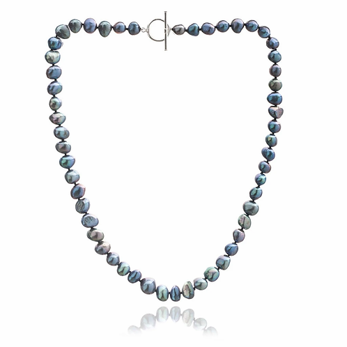 Blue/Black Freshwater Pearl Necklace