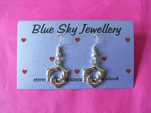Blue Sky Dolphin Earrings