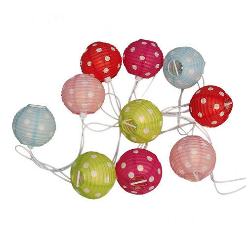 Candy Spot Party Lights With British Standard 3 Pin Plug