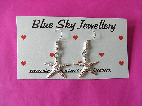 Blue Sky Star Fish Earrings
