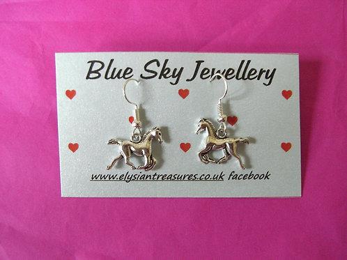 Blue Sky Horse Earrings