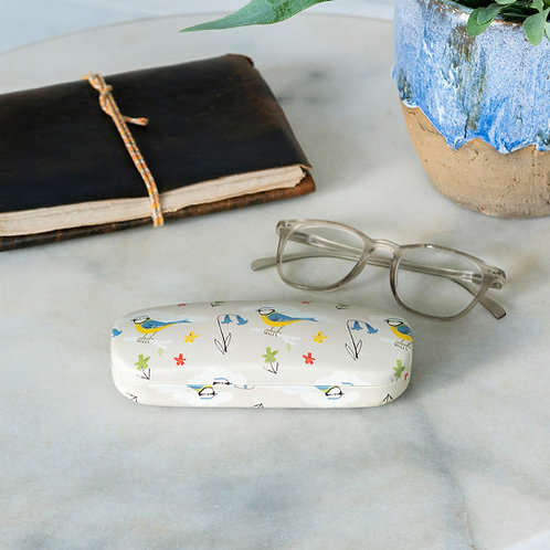 Blue Tit Glasses Case