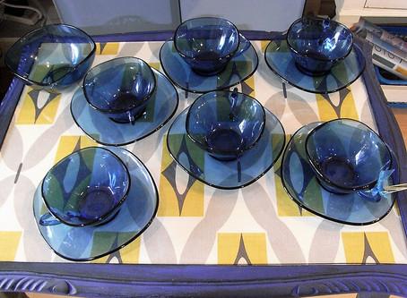 French Glass Coffee/Tea Set