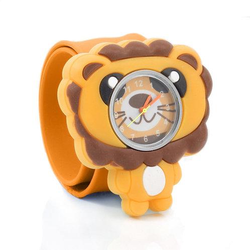 Lion Popwatch Snap On Slap Watch