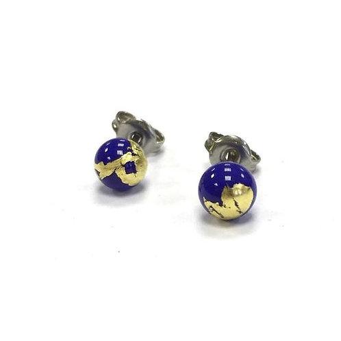 Helen Chalmers Lapis/Gold Mini Stud Earrings (39)
