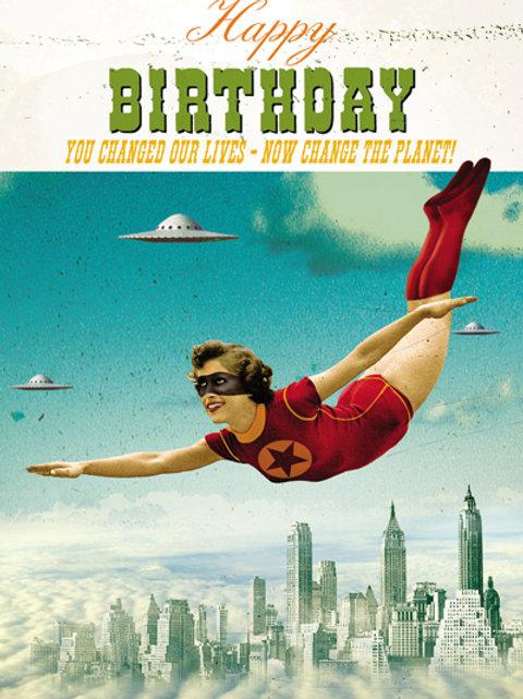 Super Heroine Birthday Card