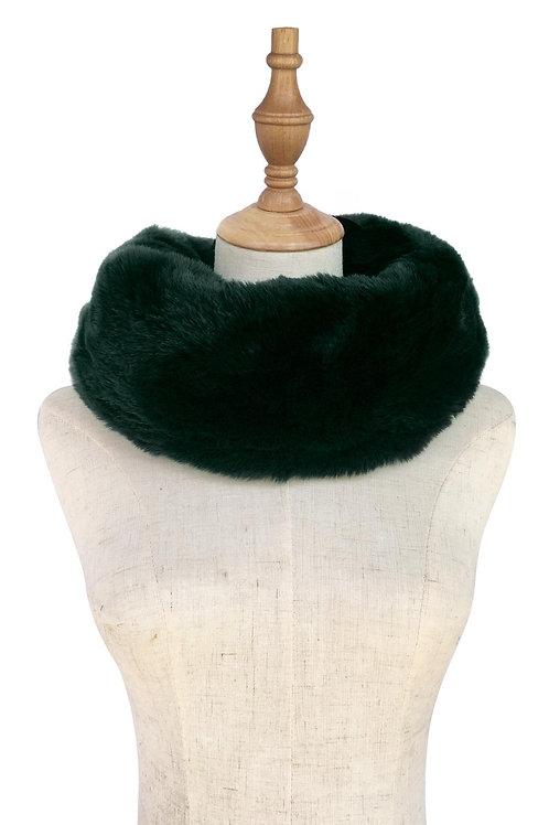Dark Green Faux Fur Snood