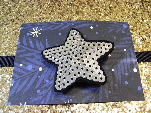 Dolly May Sequin Silver Star Brooch