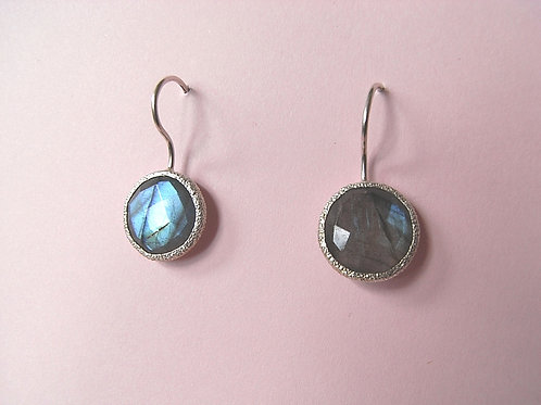 Siren Silver Labradorite Earrings