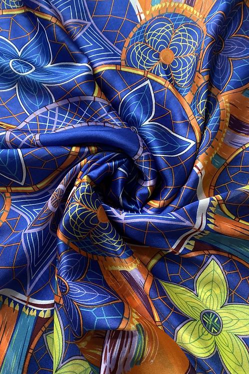 Dream Catcher Silk Scarf   100% Silk