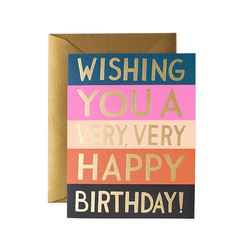 Rifle & Co Colour Block Birthday Card