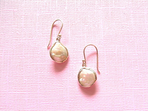 Siren Silver Fresh Water Pearl  Earrings