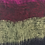 Thumbnail: Black + Fuchsia Tassel Scarf 50% Wool