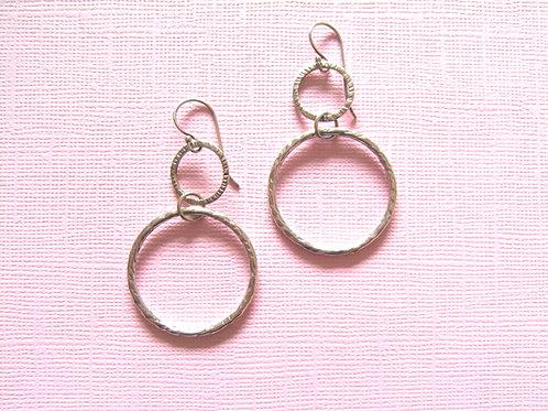Siren Silver Large Hoop Earrings