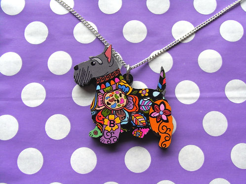 Scottie Dog Resin Necklace