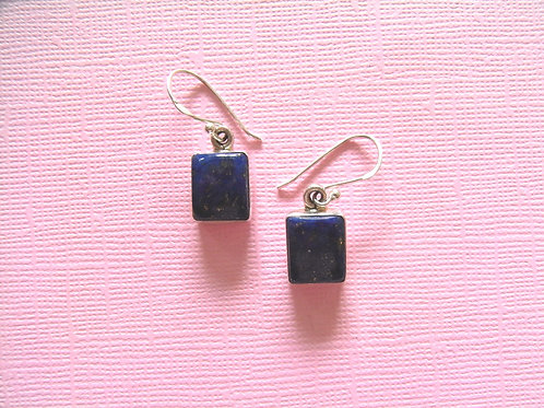 Siren Silver Lapis Earrings