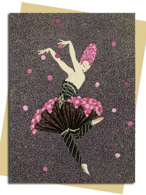 Rose Dancer (Erté) Greeting Card