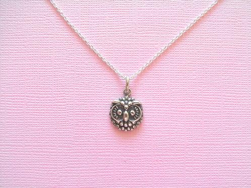 Sea Daisy 'Antique' Owl Necklace