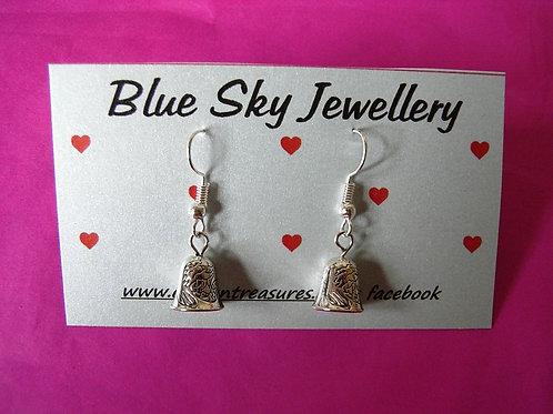 Blue Sky Chime Bell Earrings