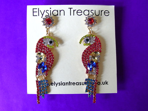Exotic Parrot Earrings
