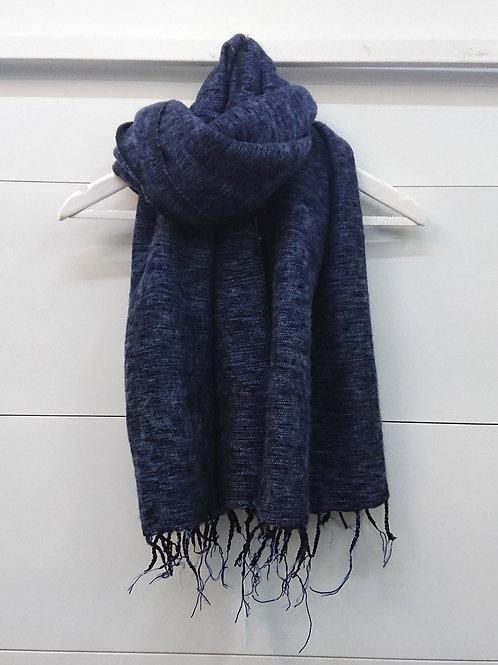 Navy Blue Scarf 50% Wool