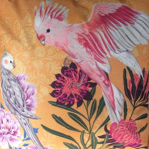 Orange Parrot Cushion Cover