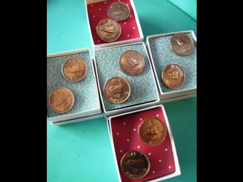 Vintage Farthing Coin Cufflinks
