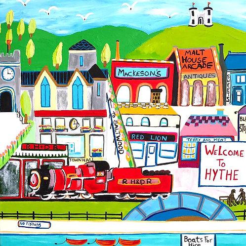 'Welcome To Hythe' Deborah Woodward Print