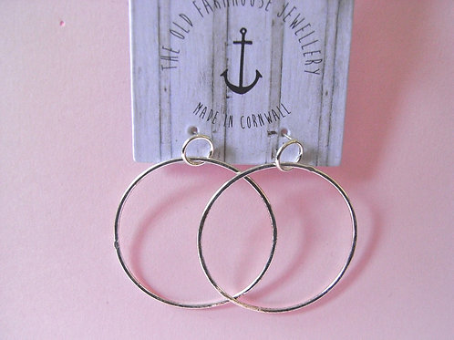 Old Farmhouse Silver Hoop Earrings